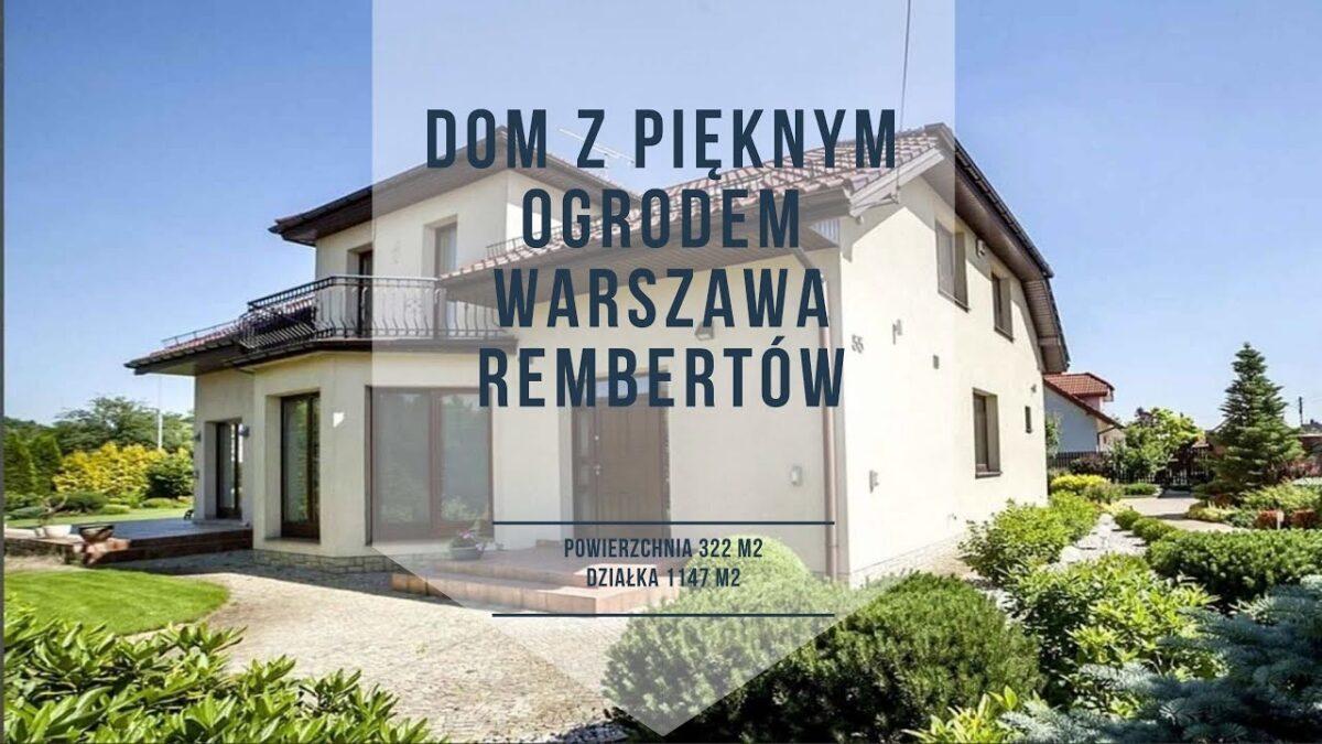 Dom z pięknym ogrodem Warszawa Rembertów