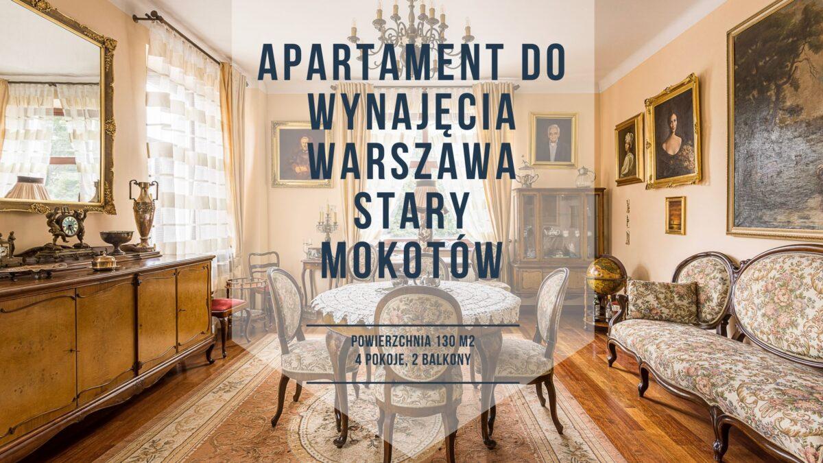 Mieszkanie do wynajęcia Warszawa Mokotów, kamienica 4 pokoje