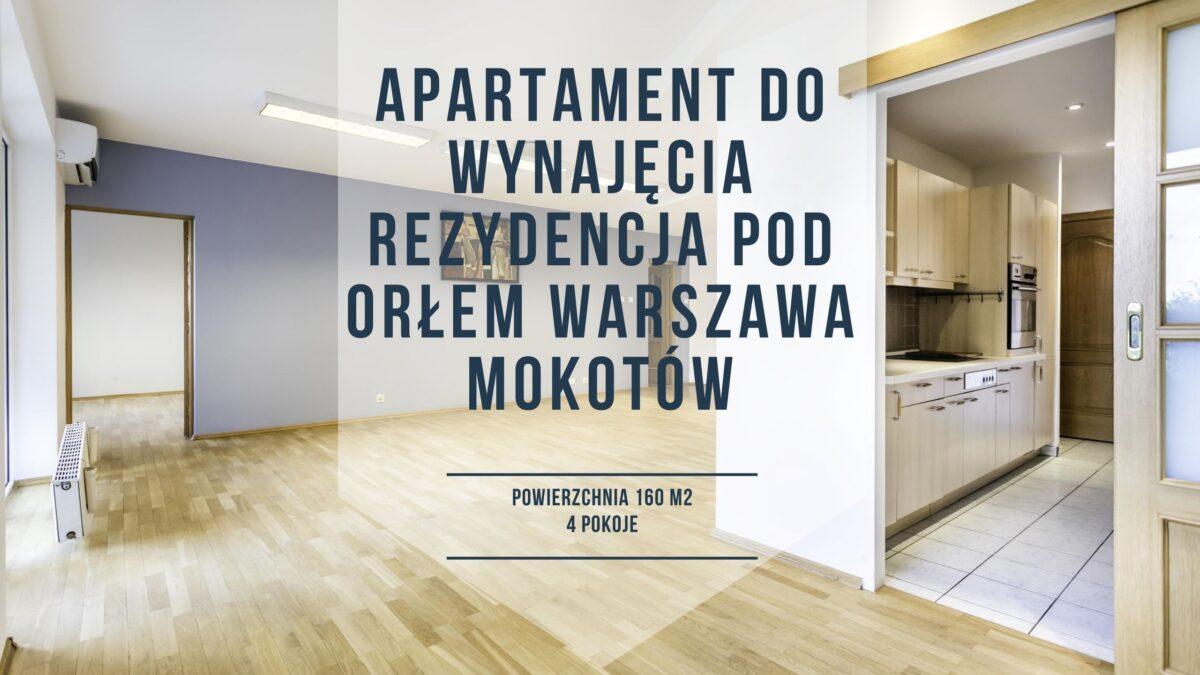 Duże mieszkanie do wynajęcia Warszawa Mokotów 3 sypialnie
